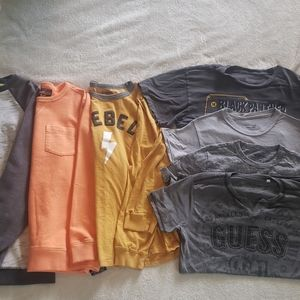 3 long sleeve and 4 short sleeve shirts for boys